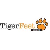 Tiger feet logo block